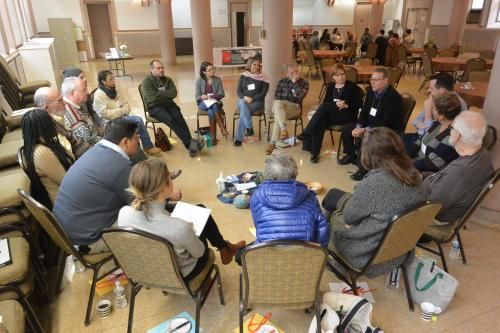 Participants sit in a peacemaking circle at CMN's Restorative Justice Circles Intensive