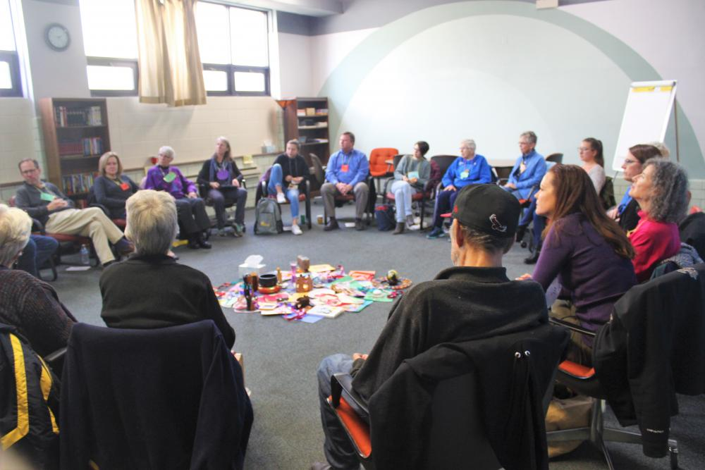 Participants sit in circle together at CMN's first Circlekeeper Training