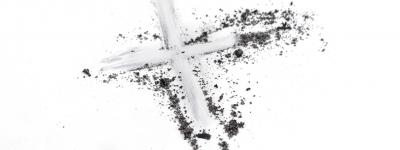 Ashes smeared into cross