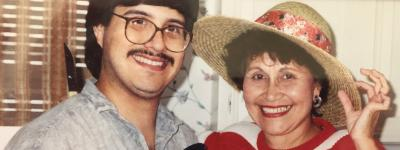 Chris and his mother, Pilar