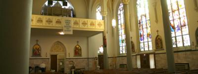 Our Lady of the Holy Cross Catholic Church in Baden, Missouri
