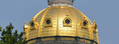 Iowa State House golden dome