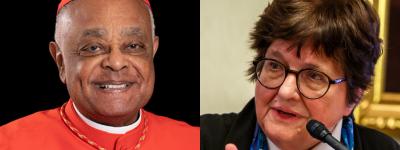 Cardinal Gregory and Sr. Helen Prejean headshots