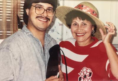 Chris and his mother, Pilar