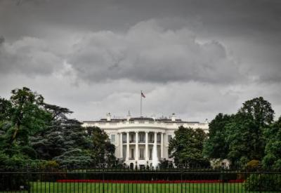 Storm clouds above the White House