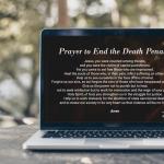 Laptop computer playing a CMN Prayer Vigil