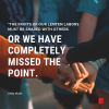 """Text: """"The fruits of our Lenten labors must be shared with others or we have completely missed the point"""" -Andy Rivas Image: people holding hands"""